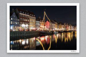 Nyhavn Reflections - Copenhagen - Framed