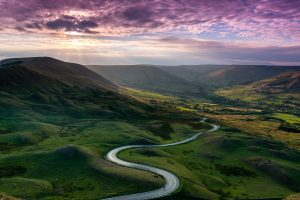 Purple Skies at Man Tor - Peak District