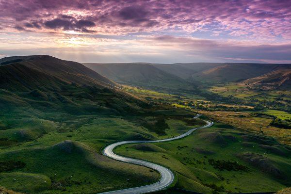 Purple Skies at Man Tor - Peak District
