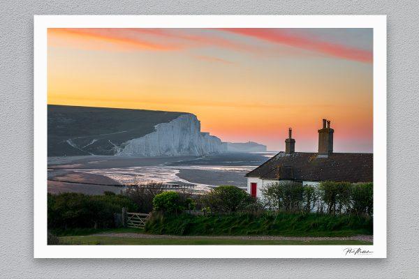 Seven Sisters Sunrise - Seaford - Framed