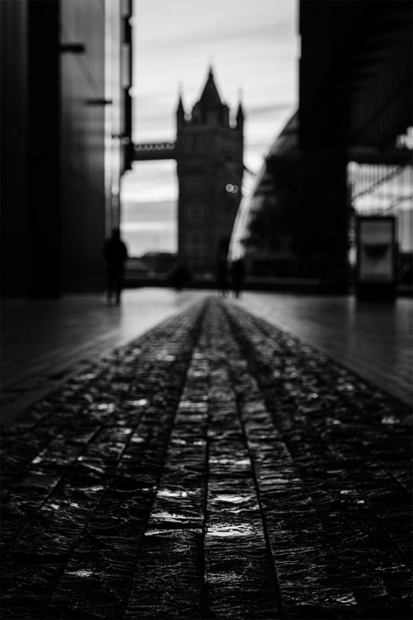 Shallow Focus Tower Bridge Black and White