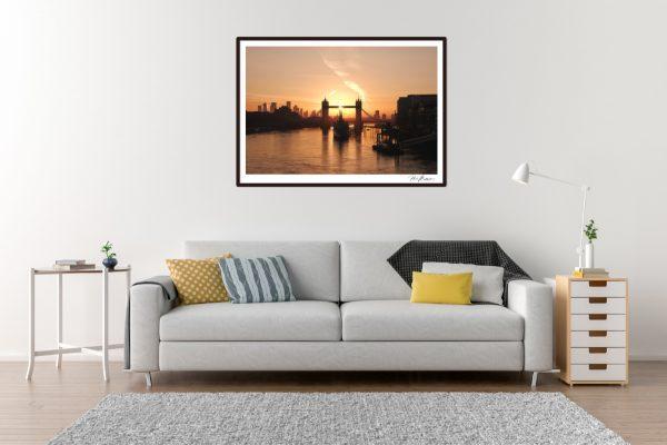 Tower Bridge Sunrise - Living Room Example